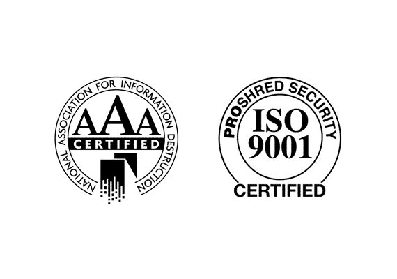 PROSHRED® is ISO 9001 & NAID AAA Certified