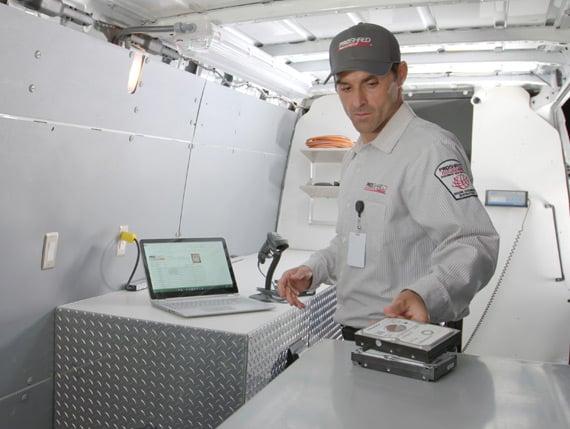 Service Tech Inside Truck