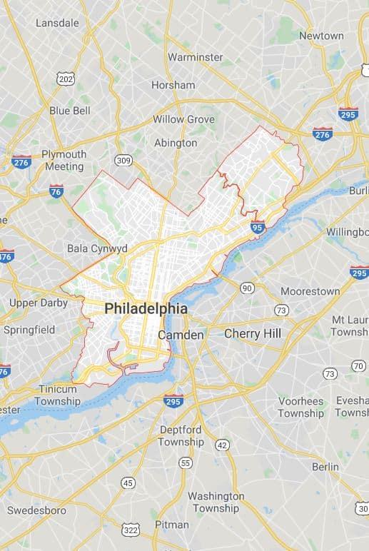 Philadelphia coverage map