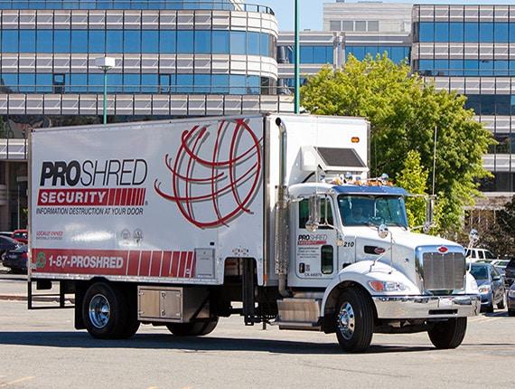 secure proshred trucks