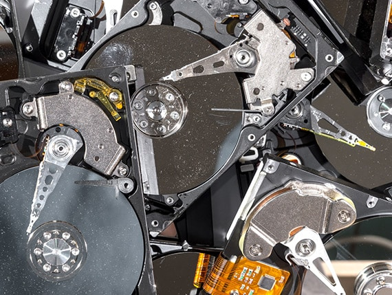 Harddrives in Bin