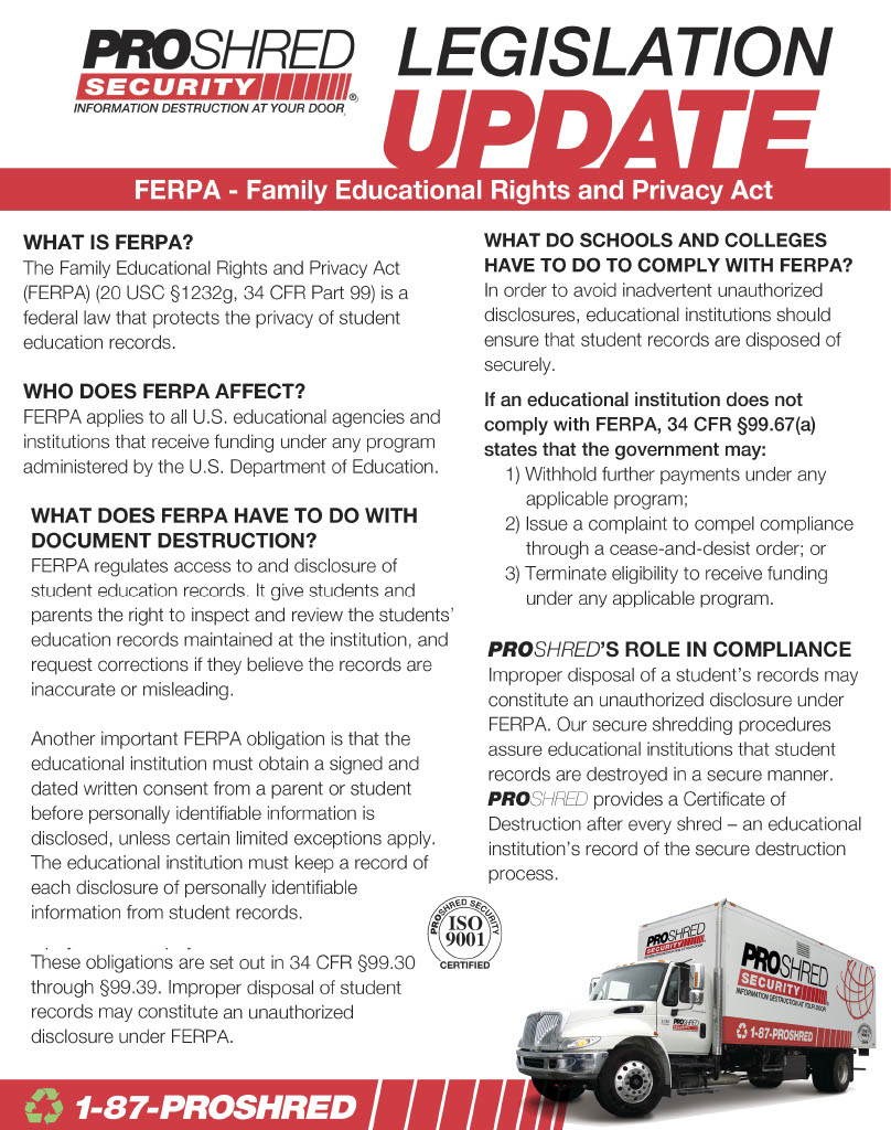 FERPA legislation update