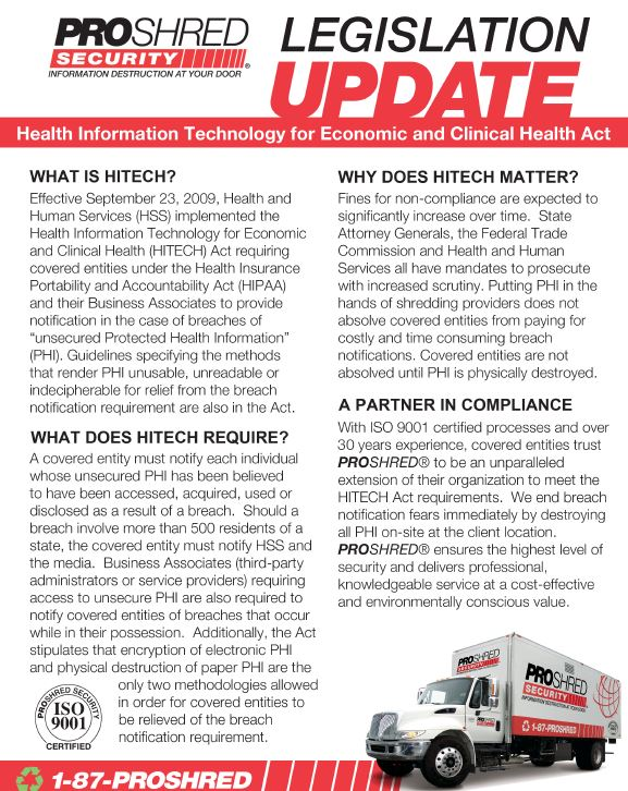 HITECH Legislation Update