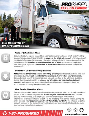 benefits of on-site shredding