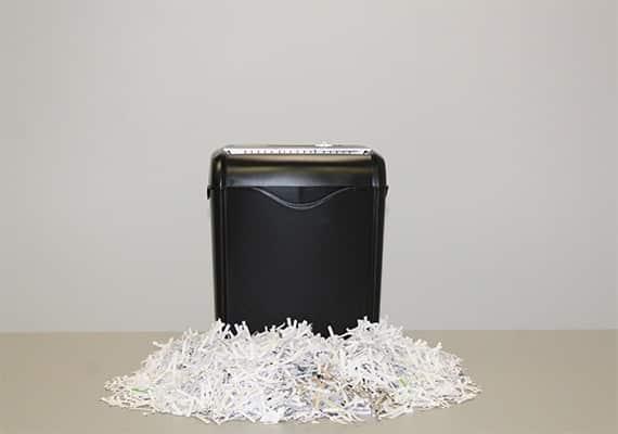 Risks of in-house shredding