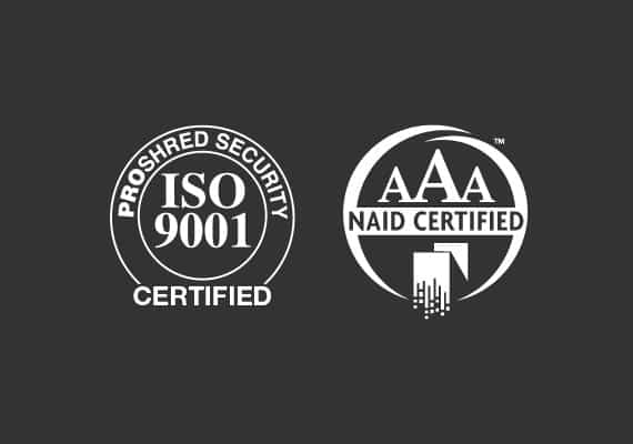 ISO 9001 and NAID AAA Logos