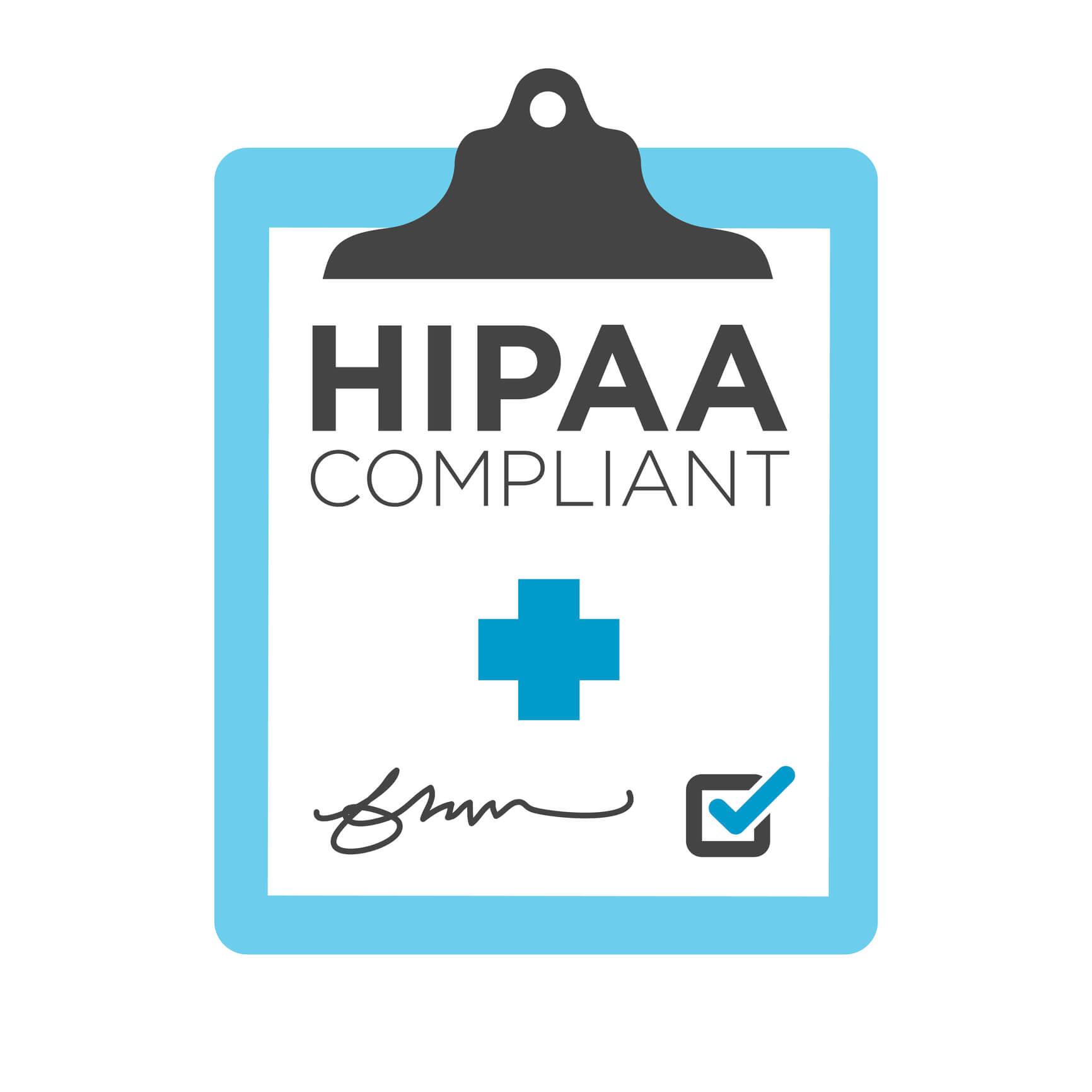 HIPAA Compliant clipboard.